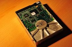 Die alte 13 GB-Festplatte...