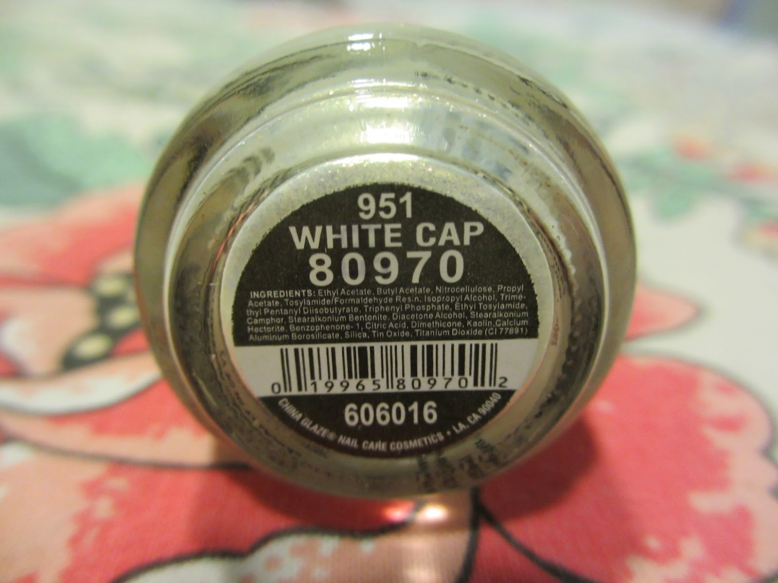 china glaze white cap 80970