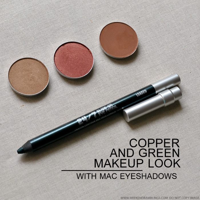 Copper Green Eye Makeup - MAC Eyeshadows Coppering Soba Saddle