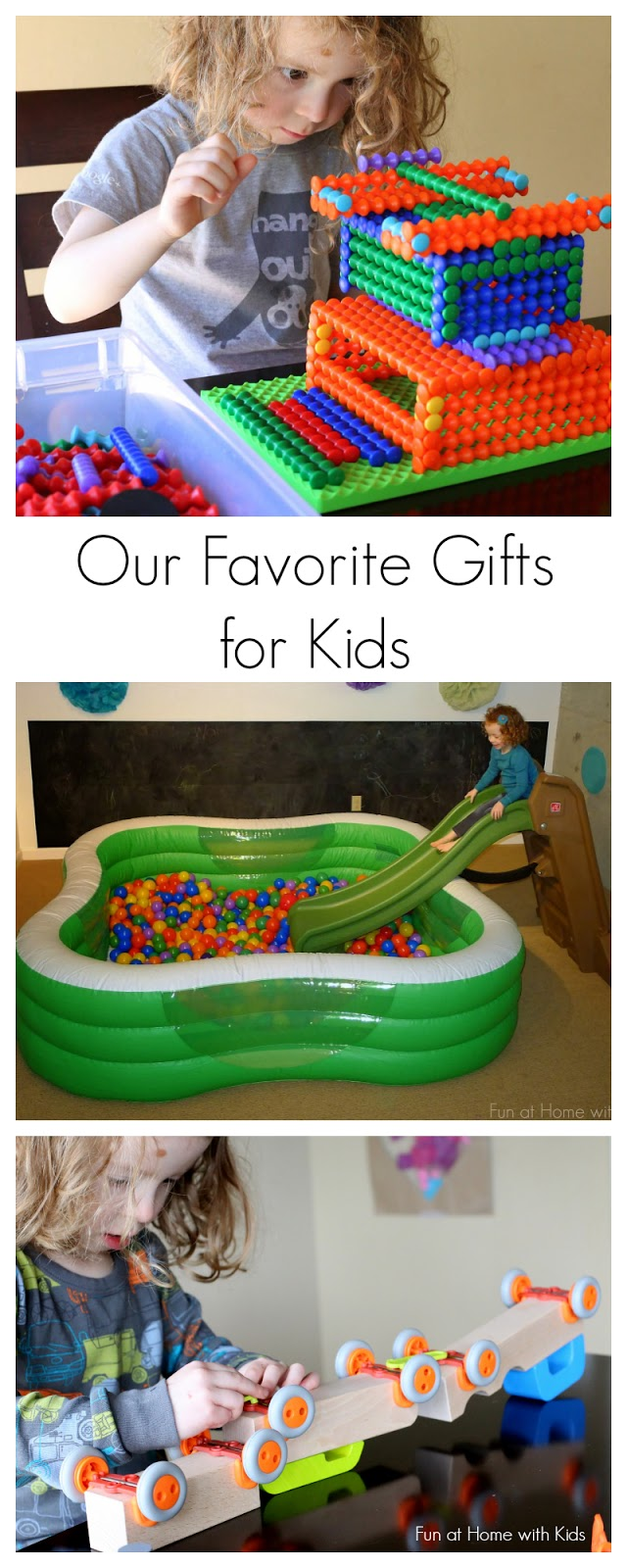 10 ideas for unusual and unique gifts for children ages two to ten or older from Fun at Home with Kids