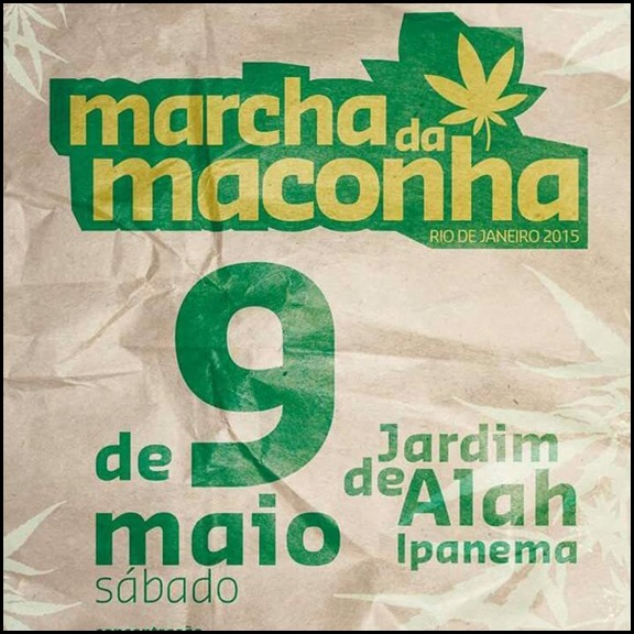 Contagem regressiva para a Marcha da Maconha Rio de Janeiro.