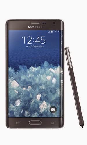 Samsung Galaxy Note Edge Front View Black Color