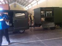 Proses Pengecekan Mobil GranMax Jakarta-Pontianak