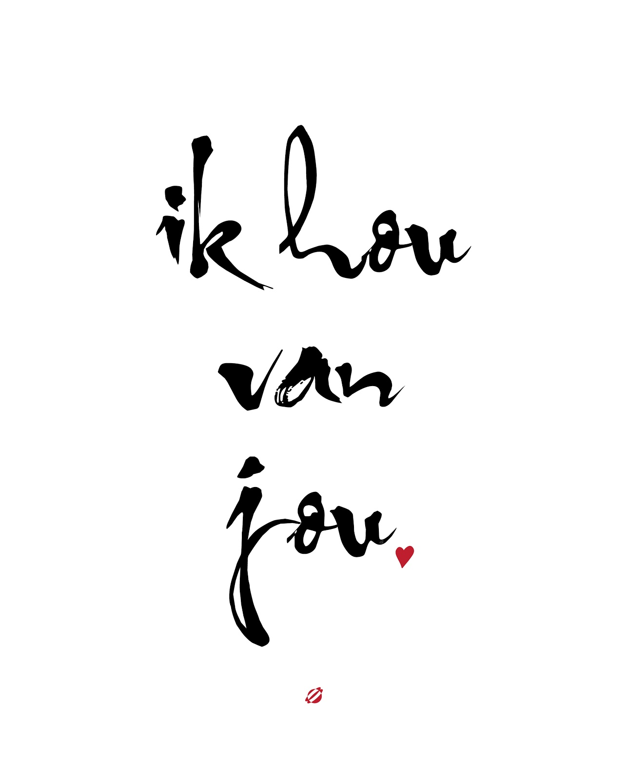 LostBumblebee ©2014 Ik you van jou - I love you - Free Printable Personal Use Only