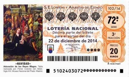 Sorteo Extraordinario de Navidad 2014 - 22 de diciembre de 2014