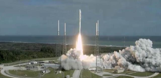 Imagens dos lançamento do jipe exploratório Curiosity