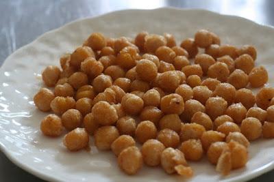 pan fried chickpeas (secret recipe club)