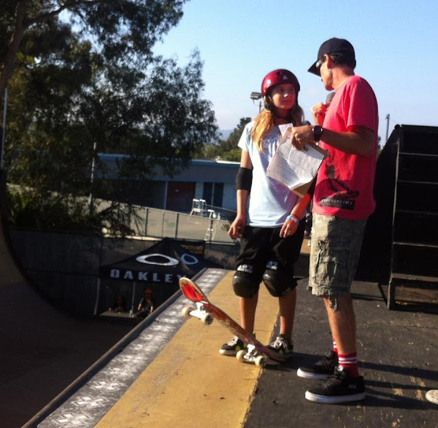 Exposure 2012 YMCA Clairemont Girl contest results, Mike McGill coaching Alana Smith near-future 540 McTwist