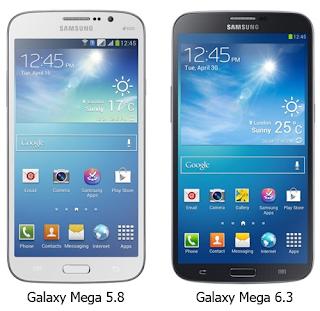 Harga Samsung Galaxy Mega 6.3 dan Galaxy Mega 5.8