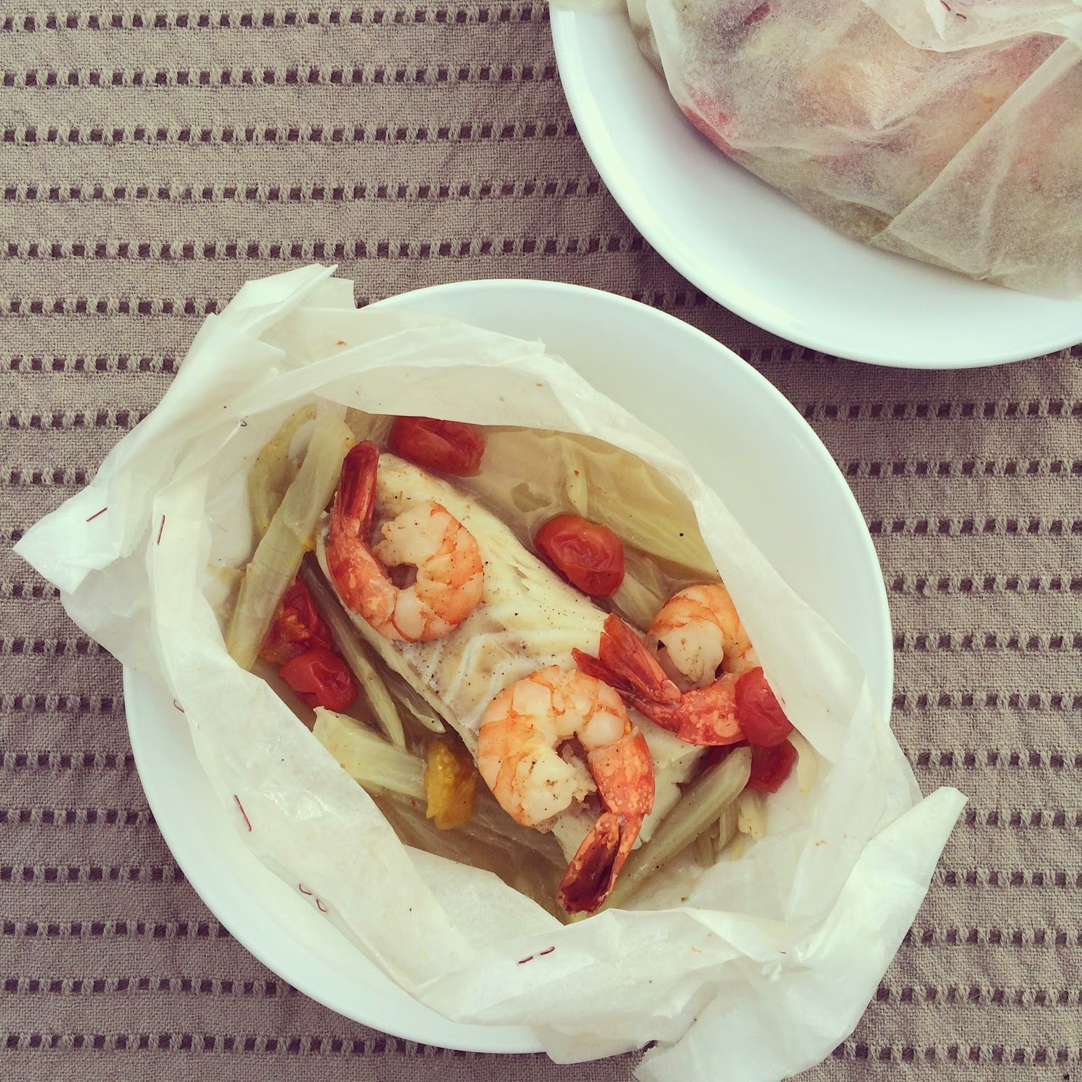 papillotes cabillaud crevettes fenouil