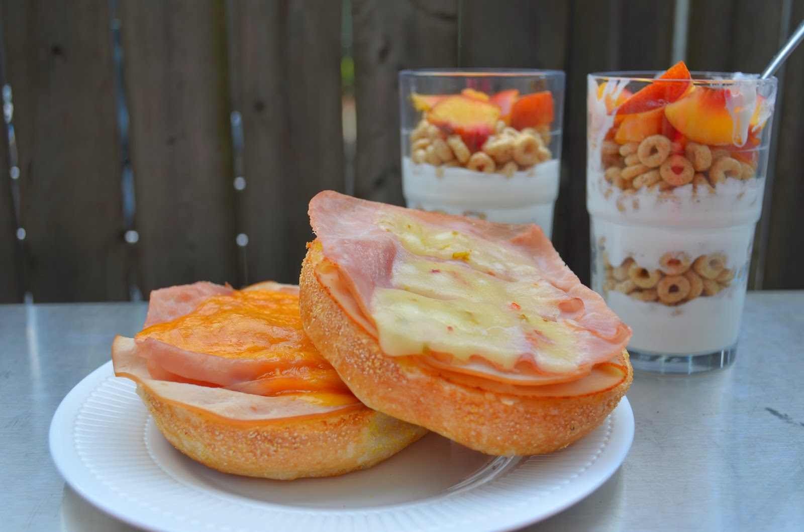 Hot Open-Faced Sandwiches and Yogurt, Cereal, and Fruit Parfaits- wasy and yummy! #PriceChopperB2S #shop #recipe #sandwich #yogurt
