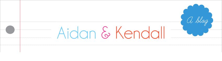 Aidan and Kendall : A blog