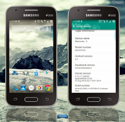 Opportunity dorsum to render custom ROM for the Samsung Milky Way V Custom ROM V.1 NEMOID For Samsung Milky Way V (SM-G313HZ)