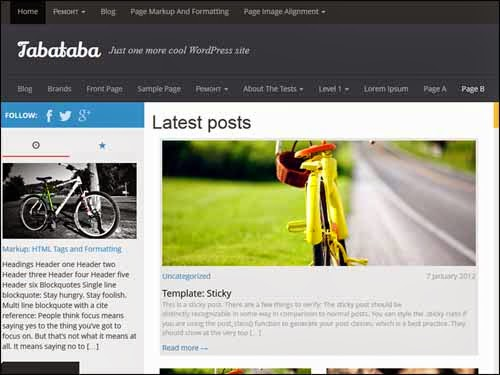 Tabataba Free WordPress Theme