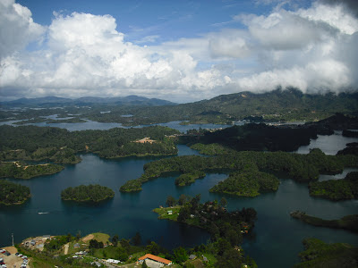 A quite stunning view from 'The Rock' Guatapé, a couple of hours drive from Colombia's second city, Medellín