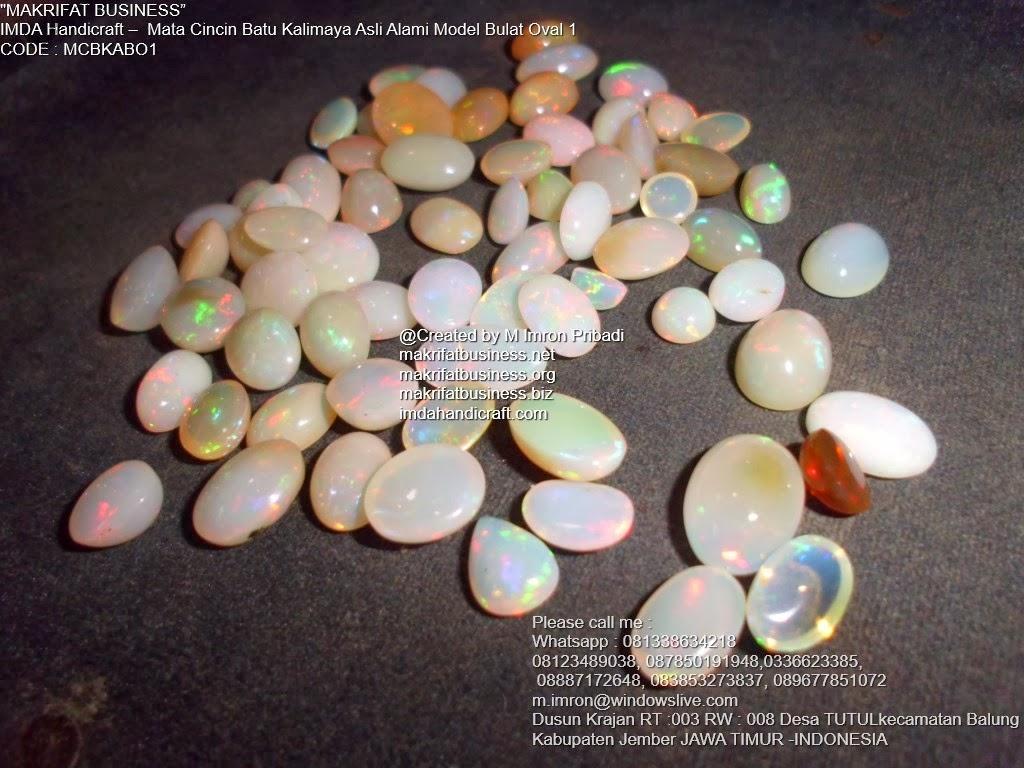 Batu Kalimaya Opal : Kerajinan Handicraft Mata Cincin Batu Kalimaya