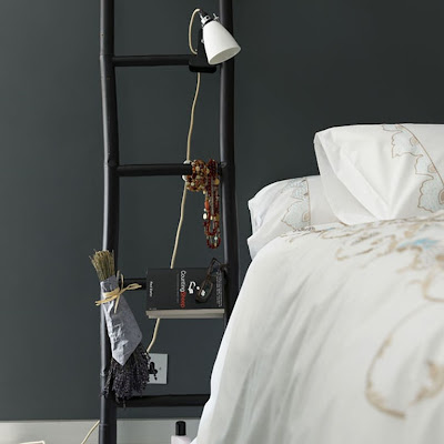 ladder decor for the bedroom