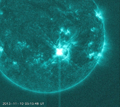 LLAMARADA SOLAR CLASE X1.1, 10 de Noviembre 2013