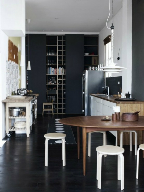17 apart painting the kitchen in chalkboard paint black kitchens mad about the house