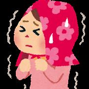 地震のイラスト「怖がる女の子」
