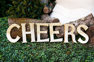 DIY giveaway holiday letters glitter