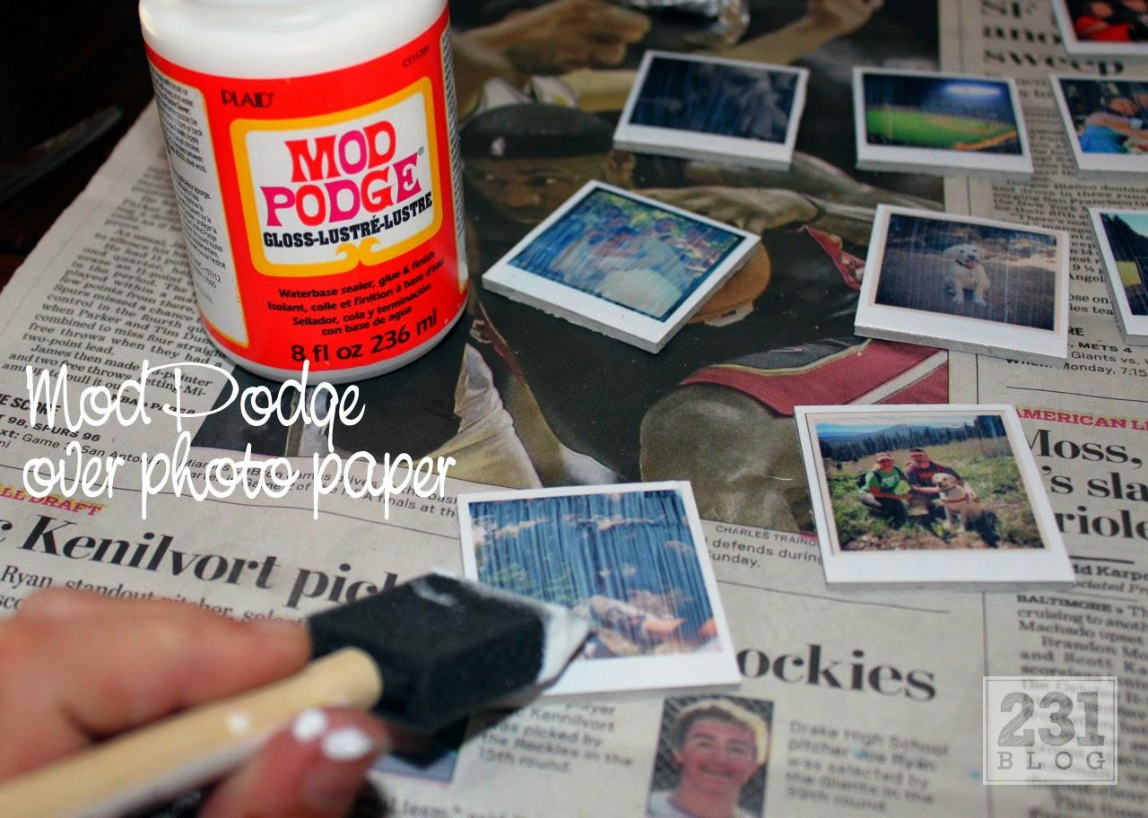 Creating DIY Instagram Magnets using ModPodge
