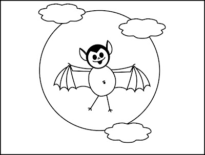 Halloween Moon Printable Coloring Pages