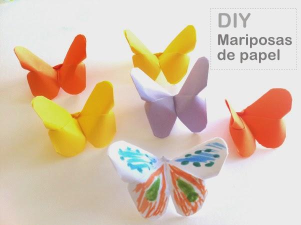 Manualidades c mo hacer mariposas de papel f cil y r pido - Como hacer mariposas de papel para decorar paredes ...