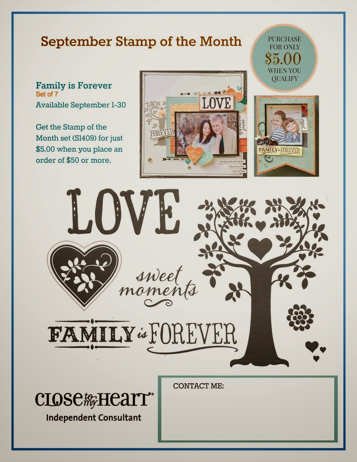 #CTMH Family Tree Stamp Set