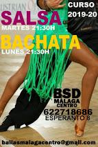 SALSA Y BACHATA EN SEPTIEMBRE EN BSD BAILAS MÁLAGA CENTRO.
