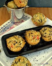 πανάλαφρα νηστίσιμα μάφιν με ελιές - Vegan olive muffins