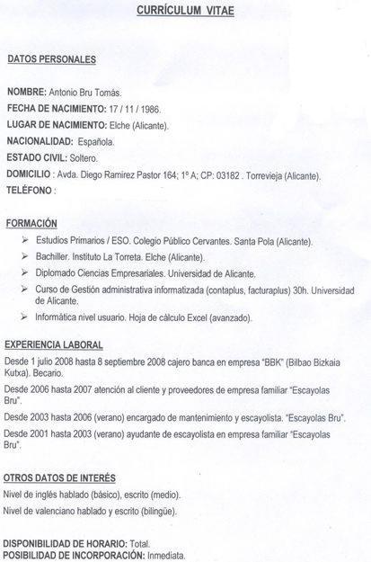 Curriculum Sin Experiencia I Started