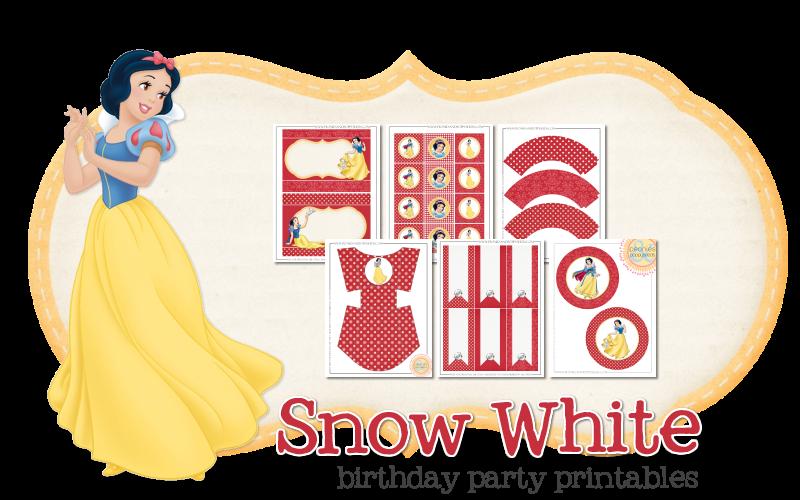 Imprimible gratis de Blancanieves - Fiesta de princesas