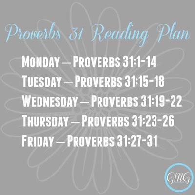 Proverbs 31 Reading Plan
