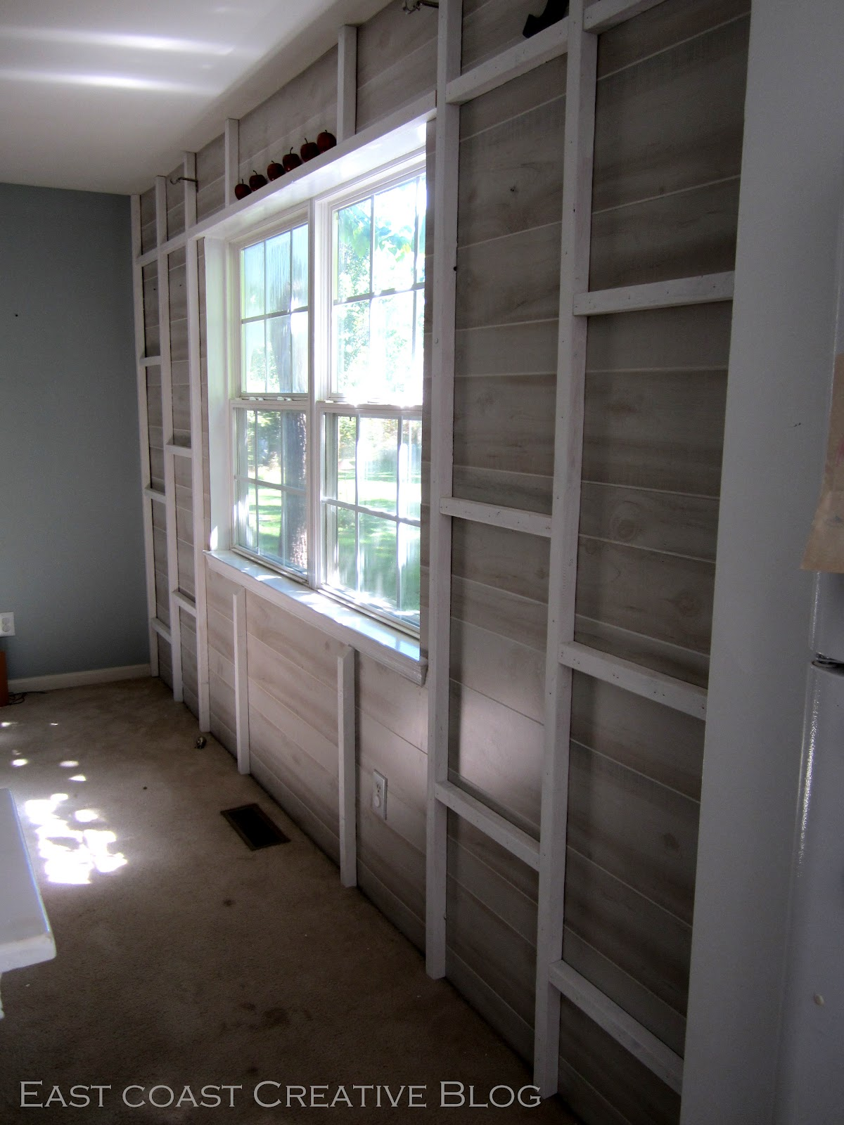Planked wall with exposed stud shelving tutorial east coast planked wall with exposed stud shelving tutorial east coast creative blog amipublicfo Images