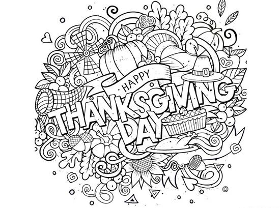 23 free thanksgiving coloring pages and activities round for Free thanksgiving color pages