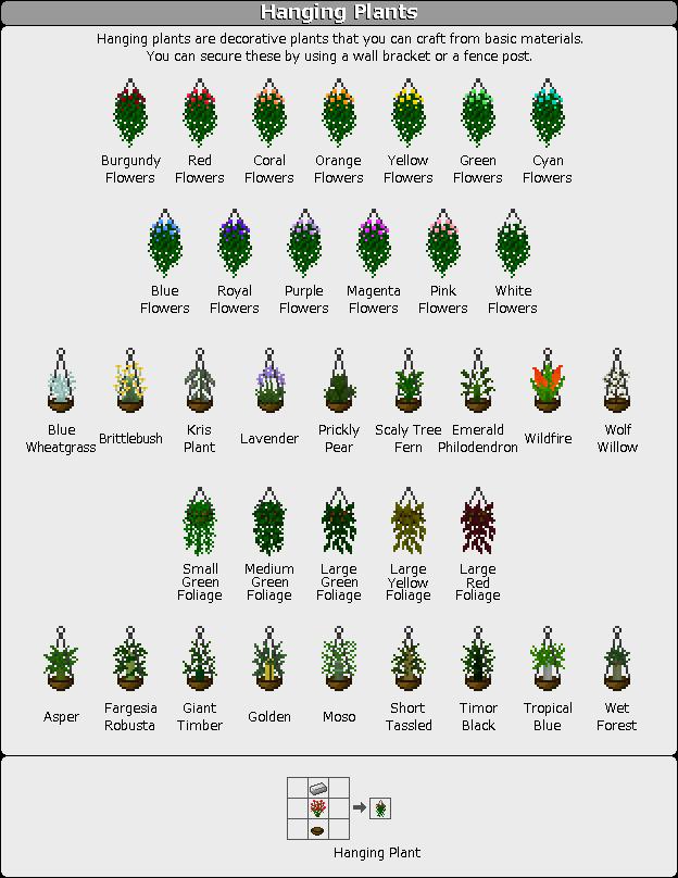 Plant Mega Pack Mod hanging