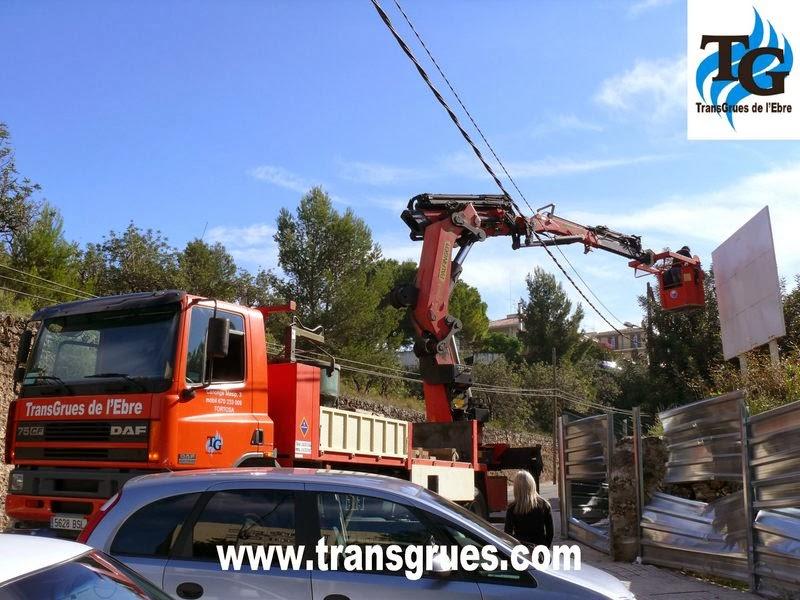 Gruas autopropulsadas, camiones grua, alquiler de gruas en Tarragona