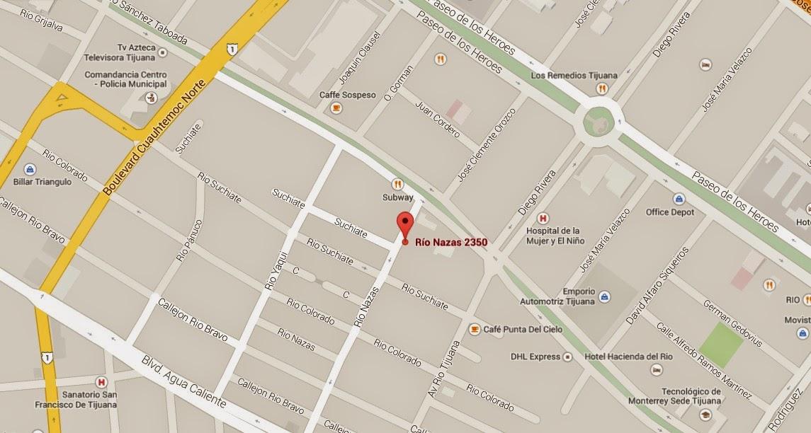 Dirección: Av Rio Nazas 2350, Zona Centro Tijuana B.C.