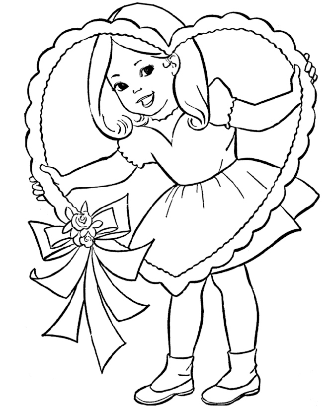 Valentines Coloring Pages Kids