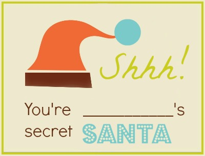 Secret Santa printable from the 2012 Make Christmas Easy Planner