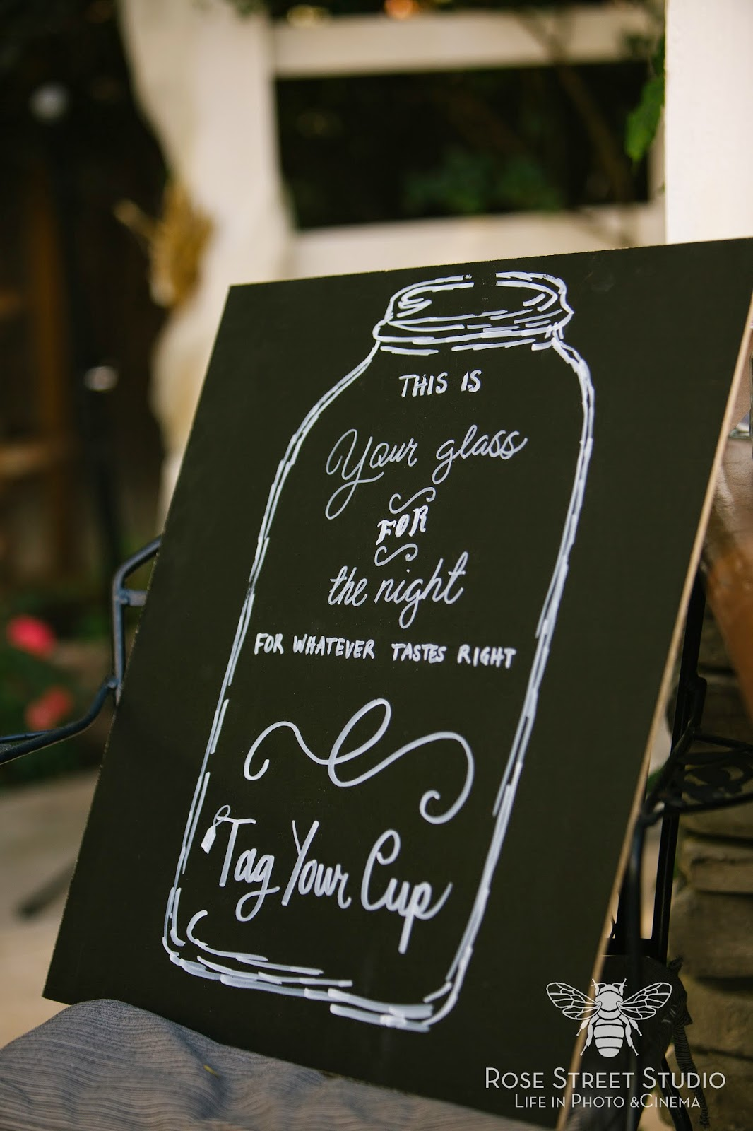 Mason Jar for the night sign l Rose Street Studio l Take the Cake Event Planning