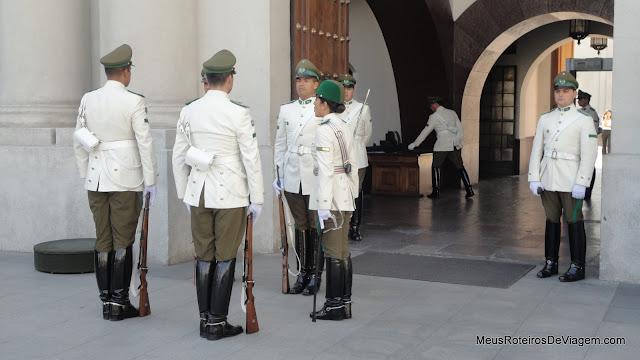 Guardas do Palácio de La Moneda