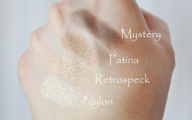 MAC: Nylon, Retrospeck, Patina и Mystery