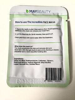 Informationen Incredible Face Maske Maybeauty