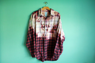 flannel, bleach, diy