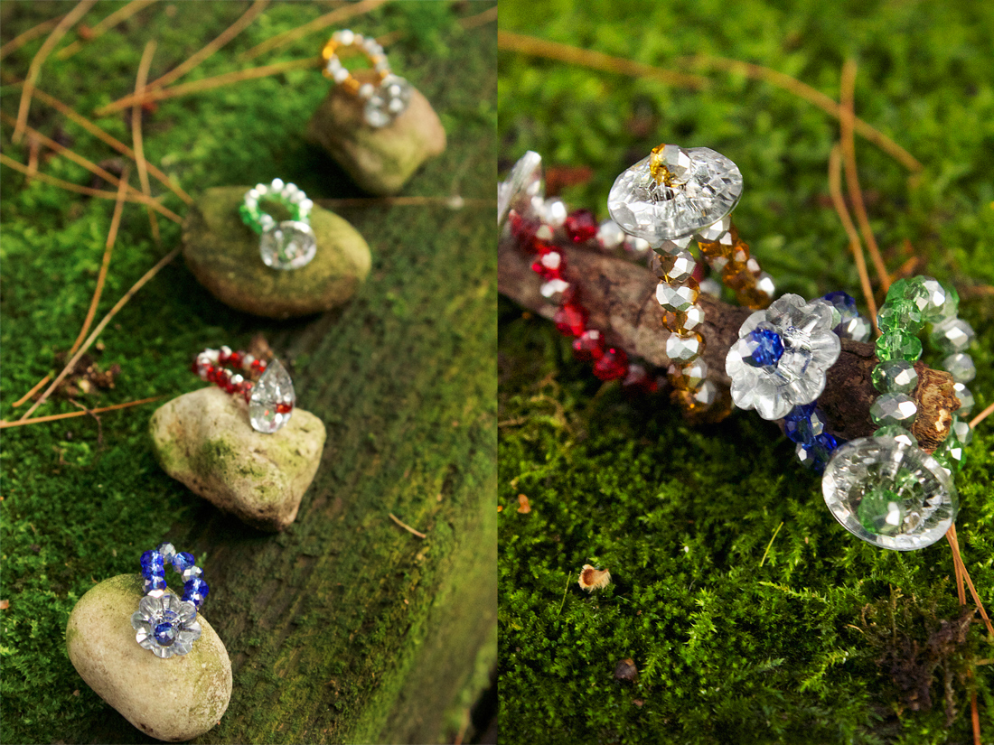 crystal ring tutorial by Allison Beth Cooling of Quiet Lion Creations