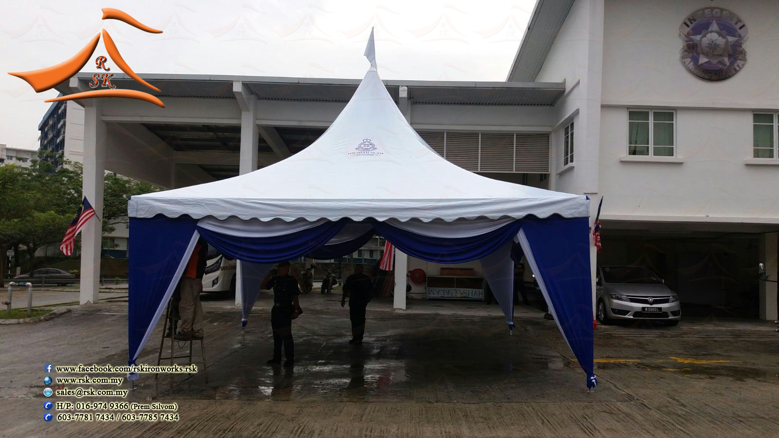 Our client from (PDRM) have requested to setup a arabian canopy. This was & RSK Iron u0026 Canvas (M) Sdn Bhd: Arabian Canopy 20u0027 x 20u0027 for PDRM