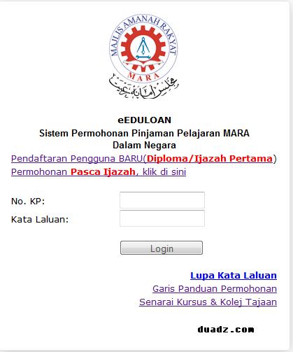 Permohonan Pinjaman Pelajaran MARA Dalam Negara Telah Dibuka 2014