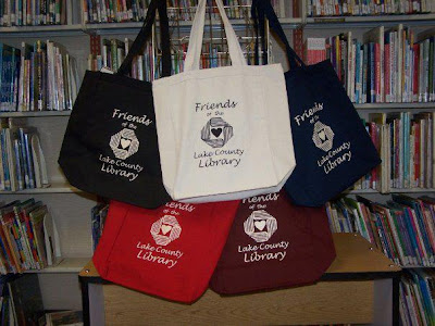 Friends of the Lake County Library book bags